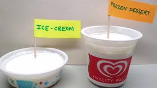 Icecream vs Frozen Desserts