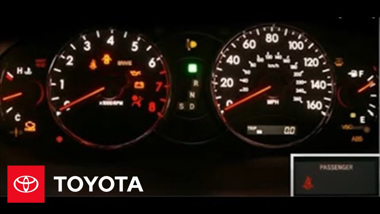 2005 avalon how to service reminders and warning lights toyota [ 1280 x 720 Pixel ]