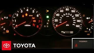 Avalon How-To: Service Reminders And Warning Lights | 2005 Avalon | Toyota