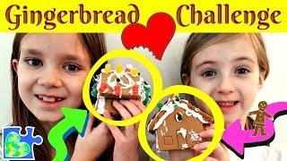 GINGERBREAD HOUSE CHALLENGE -- Kids Make DIY Gingerbread House Kit