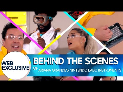 Behind the Scenes of Ariana Grande's Nintendo Labo Instruments