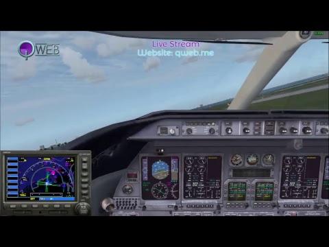 Flight Simulator X: Bombardier Learjet 45 Landing Practice