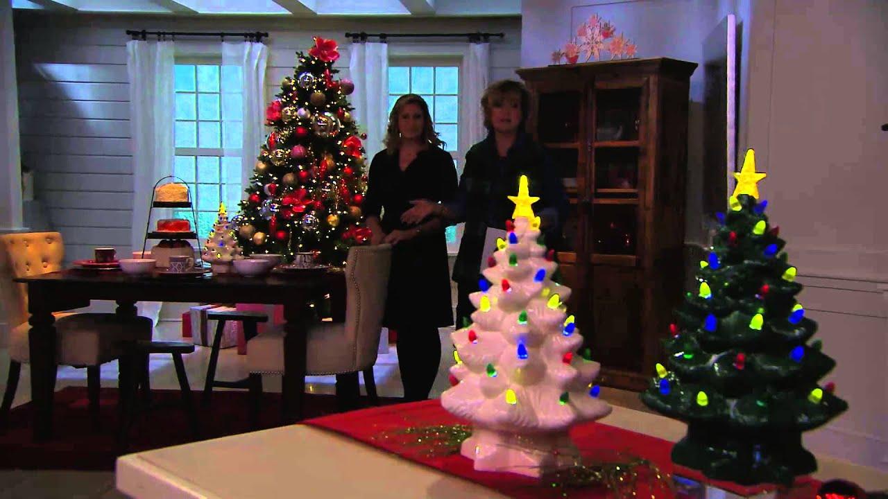 Illuminated Battery Op. Porcelain Nostalgic Christmas Tree with ...