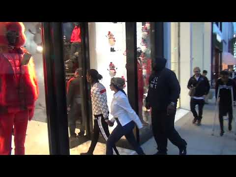 Cardi B and Off Set hit the shops of Rodeo Drive in Beverly Hills hand in hand
