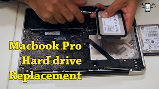 Macbook Pro Hard drive replacement video - HDD to SSD Done in 5 min