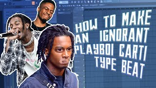 How to make a playboi carti x pierre bourne type beat for whole lotta red