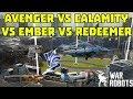 Calamity vs Avenger vs Ember vs Redeemer - Best Heavy Weapon in WR | War Robots