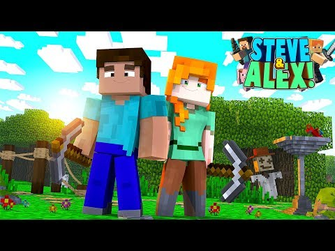 Minecraft Movie - STEVE & ALEX'S LIFE - HOW IT ALL BEGAN!! (Minecraft Roleplay)