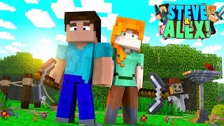 Minecraft Movie - STEVE & ALEX'S LIFE - HOW IT ALL BEGAN!! (Minecraft Roleplay) thumbnail