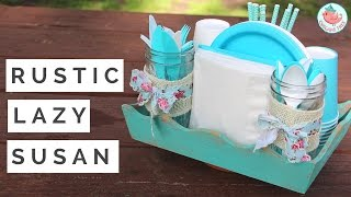 How to Make a DIY Lazy Susan & Turntable - Summer Craft for Your Outdoor Picnic!