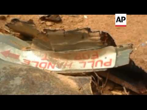AIR ALGERIE - Mali / France - Debris strewn across site of crashed Air Algerie plane