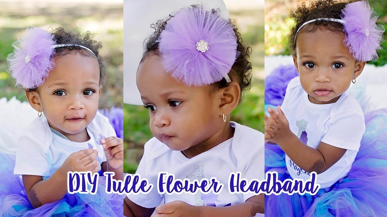 How to Make a Tulle Flower Headband - YouTube 9155db32d5e