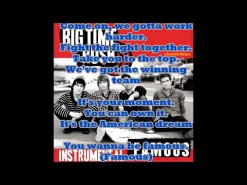Big Time Rush - Famous (Karaoke)