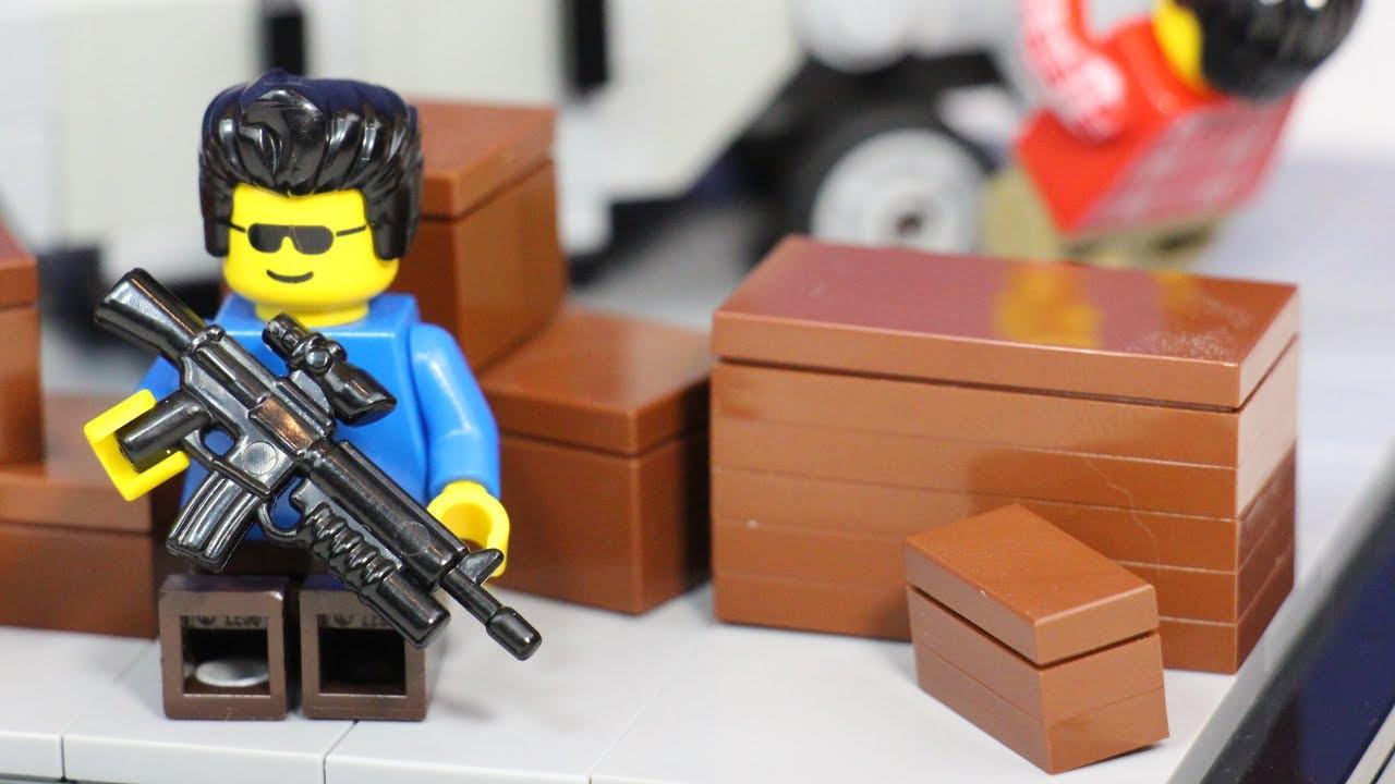Lego Grand Theft Auto  Battle Lego Gta V Multiplayer Gunfight Dual
