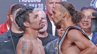 IT'S ON! Manny Pacquiao vs. Keith Thurman FINAL FACE OFF after Weigh-In