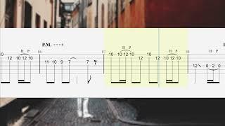 【TAB譜 - しょうへいver.】八月、某、月明かり- ヨルシカ(Yorushika)リードギター(Guitar)