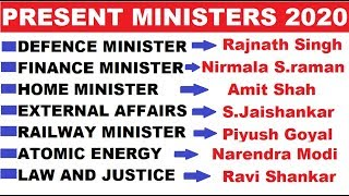 Current Ministers in India मंत्रिमंडल 2020 Current Affair 2020 Questions HVS STUDIES