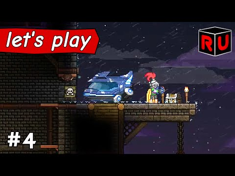 The Dangerous Life of a Space Architect! | Let's play Starbound Asteroid Base ep 4