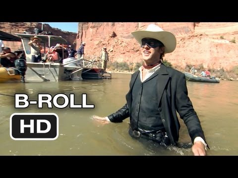 The Lone Ranger Complete BRoll 2013  Johnny Depp, Armie Hammer Western HD