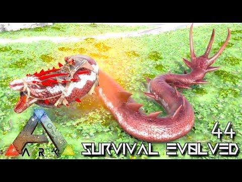 ARK: SURVIVAL EVOLVED: ALPHA BASILISK & BARYONYX TAME E44 !!! ( ARK EXTINCTION CORE MODDED )