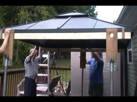Hardtop Gazebo Assembly Part 1 Youtube