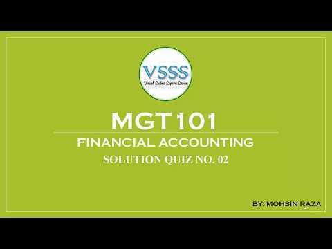 SOLUTION Quiz No  2 (MGT101 - Financial Accounting) Spring