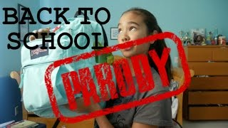 BACK TO SCHOOL: Haul, Supplies, Hacks, & More! PARODY | just tomboy things