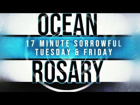 17 Minute Rosary - 2 - Sorrowful - Tuesday & Friday - SPOKEN + OCEAN WAVES