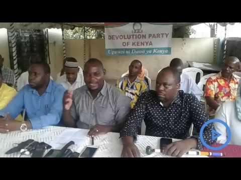 Kaloleni MP, Gunga Mwinga, defects to Devolution Party of Kenya (DPK)