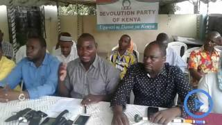 Kaloleni MP, Gunga Mwinga, defects to Devolution Party of Kenya (DPK)