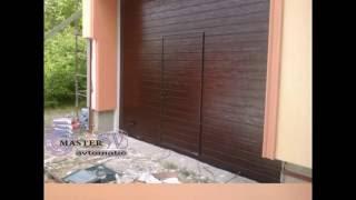 видео Секционные ворота с калиткой
