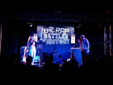 Epic Rap Battles of History Live @Torino - Joan of Arc vs Miley Cyrus