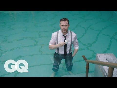 Ryan Gosling Goes Swimming in his Ralph Lauren Suit | GQ