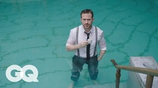 Ryan Gosling Goes Swimming in his Ralph Lauren Suit | GQ