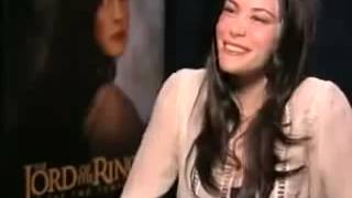 Лив Тайлер Арвен интервью  Властелин колец Liv Tyler interview avi