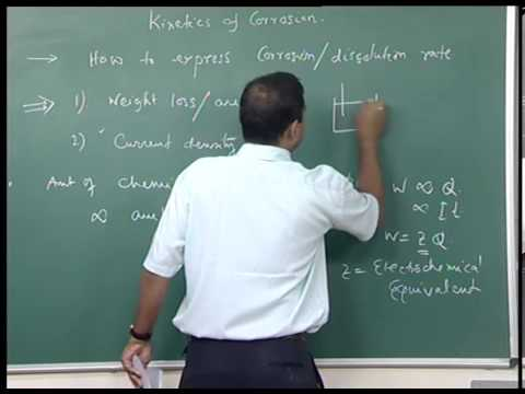 Mod-01 Lec-10 Kinetics of corrosion, Rate expression, Solved problems