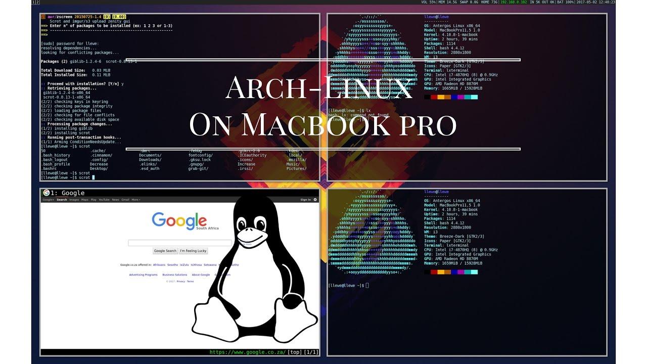 Arch-Linux On 2015 15inch Macbook pro (i3wm)