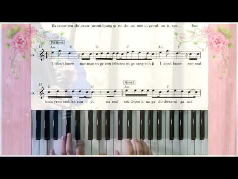For You 너를 위해  CHEN  BAEKHYUN  XIUMIN Ost  Moon Lovers ข้ามมิติ ลิขิตสวรรค์ piano cover Sheet Music