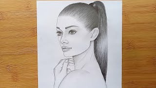 draw drawing face ponytail hairstyle