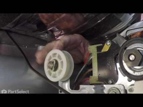 replacing the drum support roller and axle