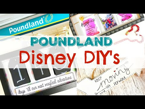 DIY DISNEY HOME DECOR | Poundland Hacks  (ad)