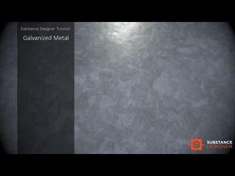 Galvanized Metal - Substance Deisgner Tutorial
