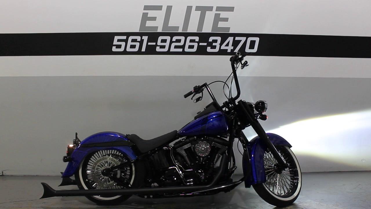 Harley Davidson Softail Deluxe >> 2008 Harley Davidson Softail Deluxe Custom * For Sale * SOUTHFLORIDAHARLEYS - YouTube