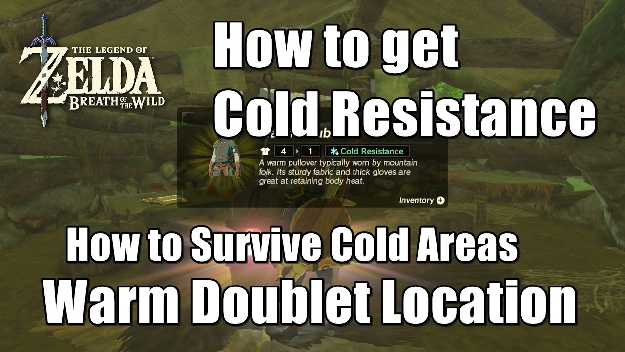 Zelda Breath Of The Wild Warm Doublet Location How To Survive Cold