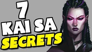 7 SECRETS You Didn't Know About KAI'SA! - League of Legends