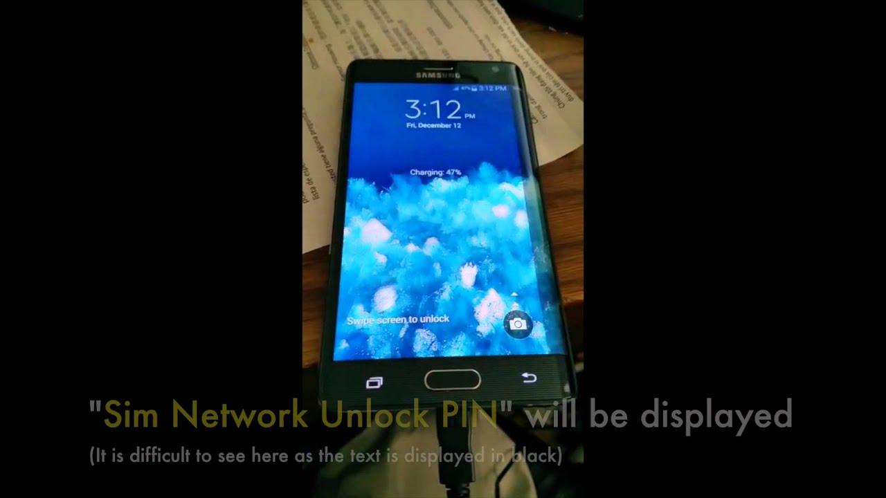 Unlock Samsung Galaxy Note Edge, Network Unlock Codes