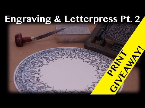 Printmaking Demo: Engraving on a Letterpress Pt 2 (Giveaway Closed)
