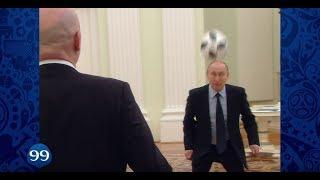 Putin, Infantino, Ronaldo, Maradona play footy 100 days before WC 2018
