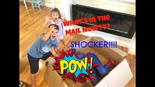 I CAUGHT a SUPER HERO in MY HOUSE! Surprise Package in Mail, Special Delivery!
