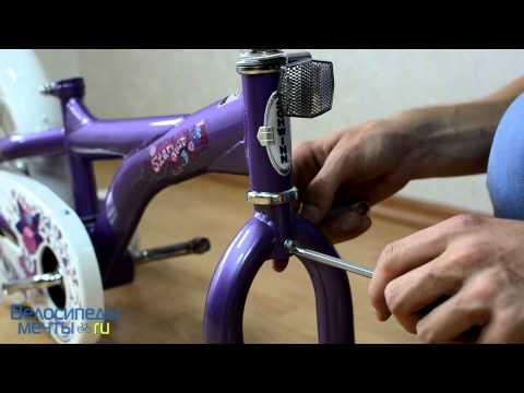 Как поднять руль на детском велосипеде видео